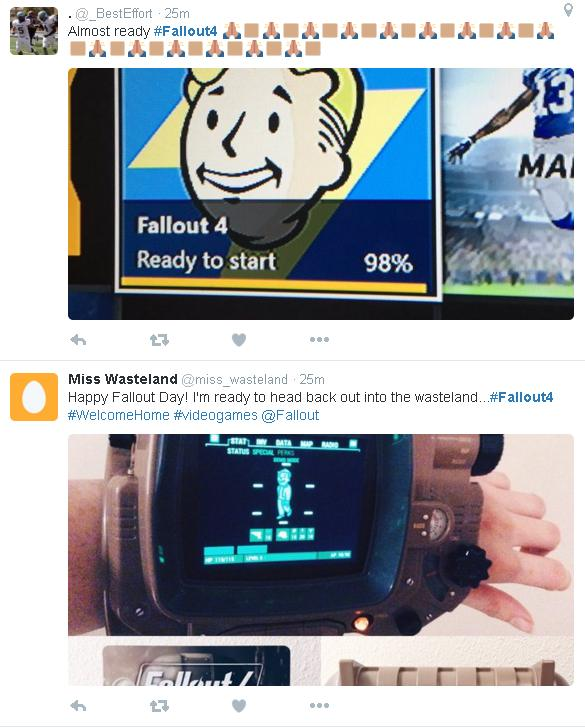 Fallout 4 Tweets