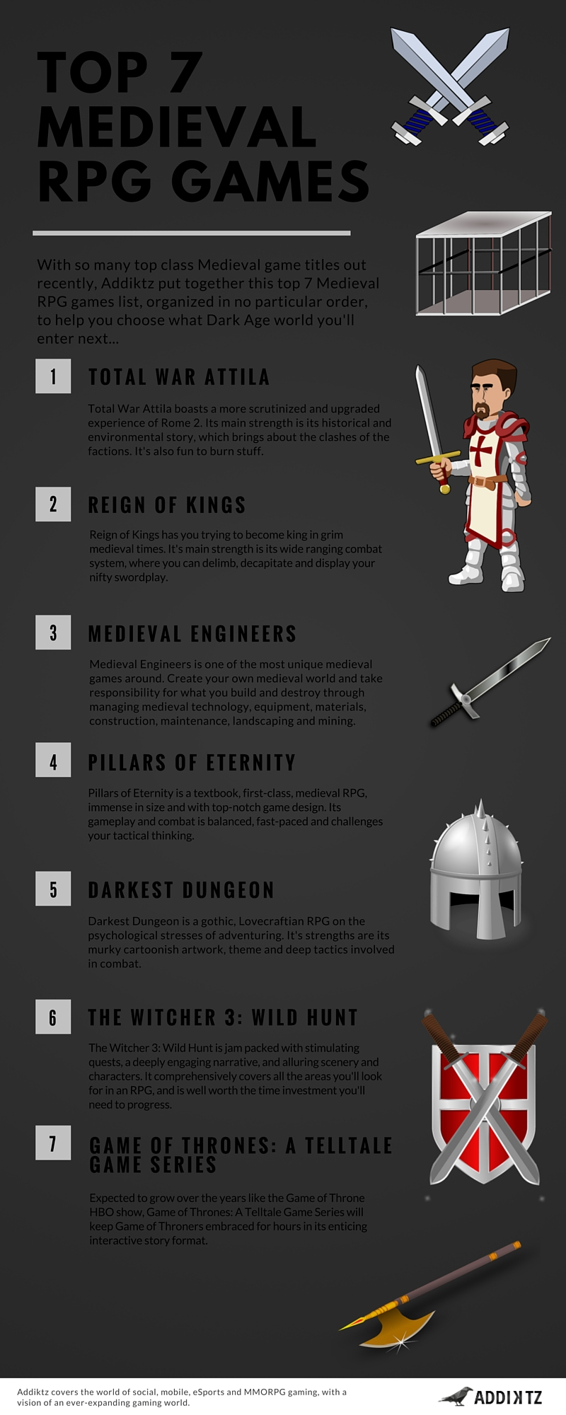 Top 7 Medieval RPG Games [Infographic]